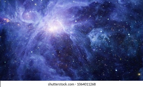 Fiery explosion in space. Abstract illustration of universe. Elements of this image furnished by NASA