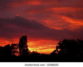 Fiery London Sunset