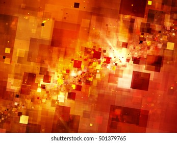Fiery new space technologies explosion, computer generated abstract background, 3d render