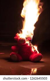Fiery revenge of a teddy bear