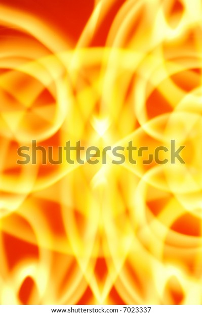 Fiery swirls of light created with flashlights
