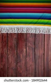 Fiesta: Wooden Background With Serape Border