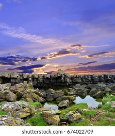 Fife Scotland, walking along the fife coastal path from Cellardyke to Crail you will come across prominent geological rock outcrops.