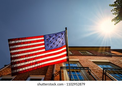 The fifteen star American flag that was authorized by the United States government in 1795.