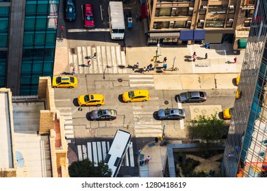 FIFTH AVENUE (5th Ave). Aerial view to 5th Ave in Manhattan. New York City, USA.