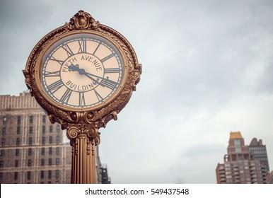 Fifth Avenue Clock, New York. USA