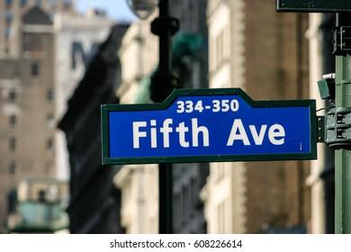 Fifth Avenue New York City,  New York City,USA