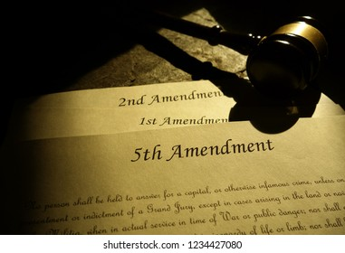 Fifth, First and Second Amendments of the United States Constitution