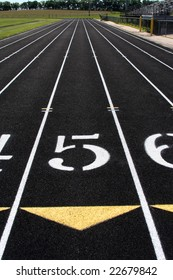 The fifth lane of a track and field running lane.
