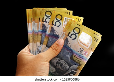 Fifty Dollar Australia banknote background