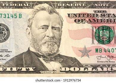 fifty dollars, US banknote, President Grant, a single banknote