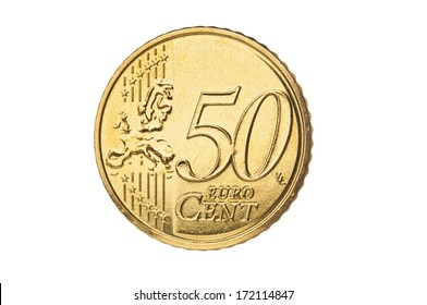 Fifty euro cent closeup