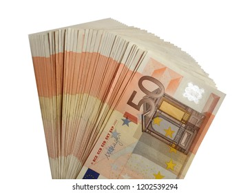 Fifty euro money isolated a pack of euros png