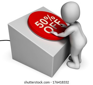 Fifty Percent Off Button