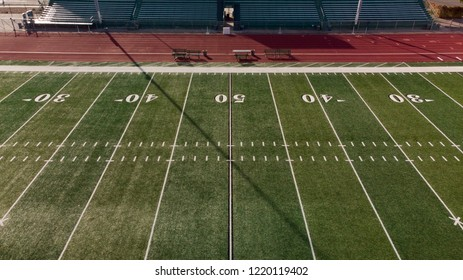 Fifty Yard Line Oblique Aerial View