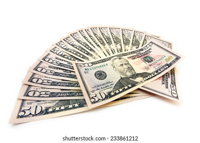 Fifty-dollar banknotes