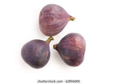 the fig fruit isolated on white background