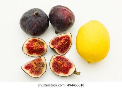 Fig fruit and lemon