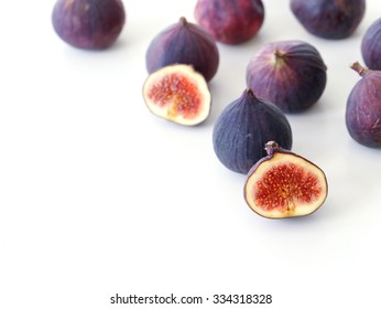 Fig fruit on a white background