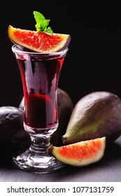 Fig liqueur, fig brandy and fresh figs