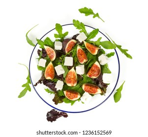 fig, rucola dn feta salad