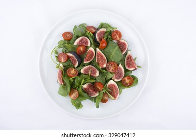 Fig Salad With Rocket Salad, Spinach, Fig and Cherry Tomato