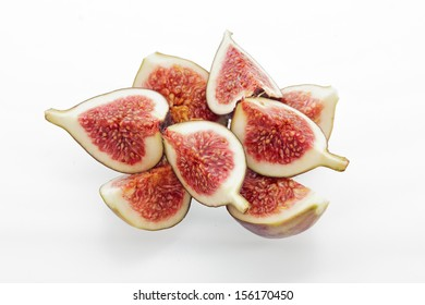 fig segments stacked on a white background
