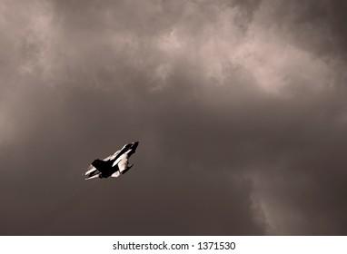 Fighter jet in action