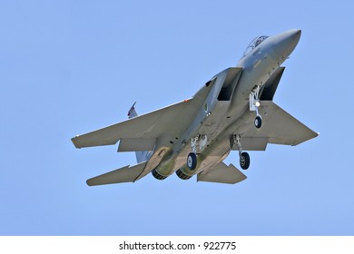 Fighter jet in air