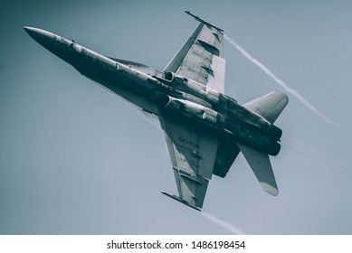 Fighter Jet Making Turn at High Speed