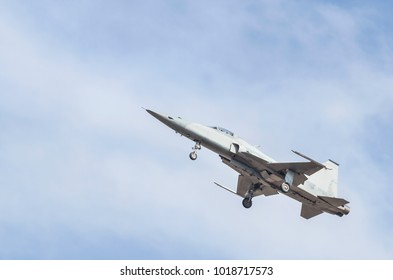 fighter jet military aircrafts flying with high speed  on blue sky background
