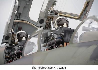 fighter plane's cockpit