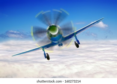 Fighter is in sky