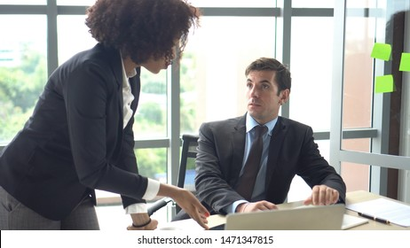 Fighting at work international colleauge argue on business matters