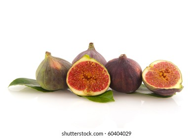Figs fruit in the studio isolated over white