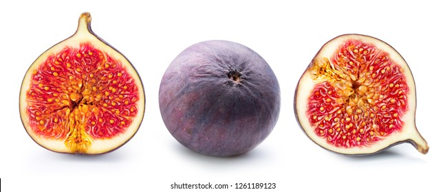 Figs fruits isolated on white background. Figs collection