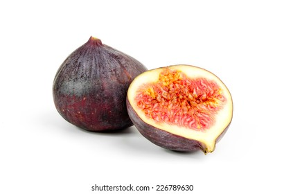 Figs , isolated  on white background.