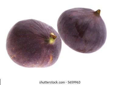 figs isolated on the white background. fresh fruits
