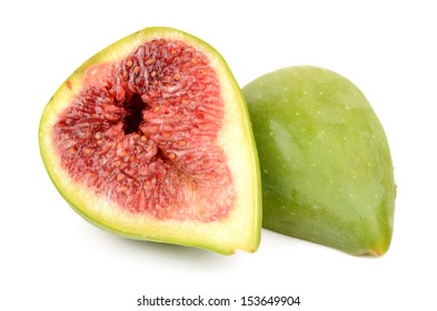 Figs on a white background