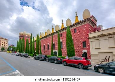 Figueras, Spain - June 2018: Dali Theatre and Museum