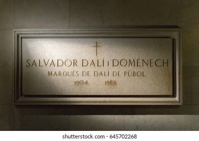 Figueras, Spain - September 14, 2012:  Figueres, Spain, Salvador Dali Theater Museum, Salvador Dali's tomb in Figueres. Editorial.