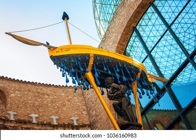 Figueres, Spain - August 5, 2017. Galaâ??s Boat Salvador Dali Theatre Museum in Figueres, Catalonia Spain