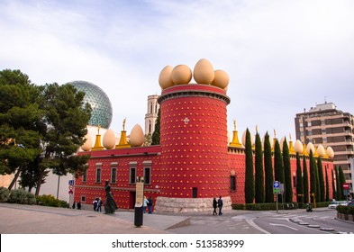 FIGUERES, SPAIN - FEBRUARY 21: Dali Museum in Figueres, Spain on February 21, 2016. Museum was opened on September 28, 1974 and houses largest collection of works by Salvador Dali.
