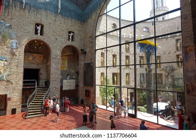 Figueres, Spain, June 28, 2018.Theatre Museum of Salvador Dali