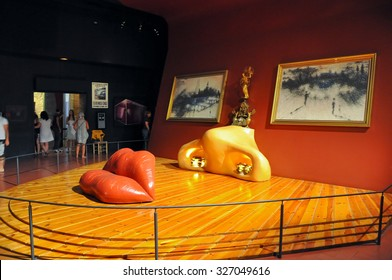 FIGUERES, SPAIN-AUGUST 6: The Mae West room in Dali Theatre on August 6,2009 in Figueres. The Dali Theatre and Museum is a museum of  Salvador Dali in Figueres, in Catalonia, Spain.