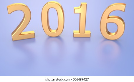 The figure in 2016. Template design for a new year 2016