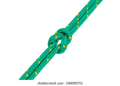 figure 8 knot with clipping path on white background
