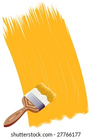 Figure of a brush and strip paint