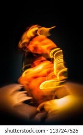 figure of a burning minotaur
