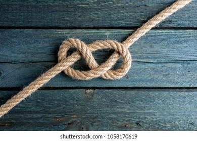 Figure Eight knot. Rope node